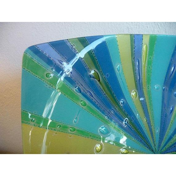 Higgins Fused Glass Tray & Bowl - A Pair For Sale In Los Angeles - Image 6 of 11