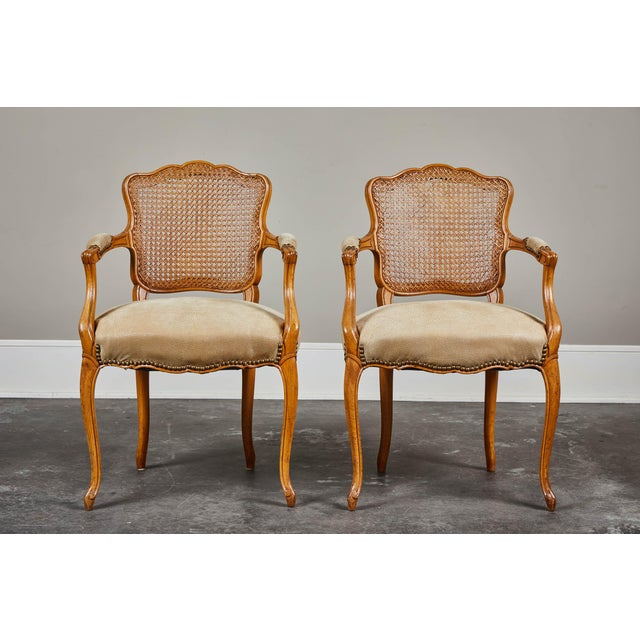 19th Century Louis XV Style Caned Armchairs - Set of 4 For Sale - Image 10 of 11