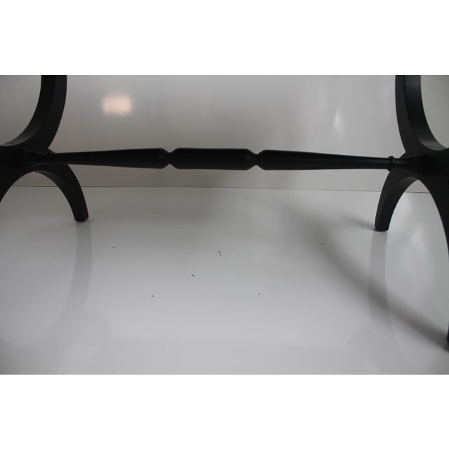 Charlotte Michigan Company Black & Brass Bench - Image 6 of 10