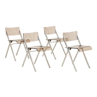 Lucite Folding Chairs - Set of 4 For Sale