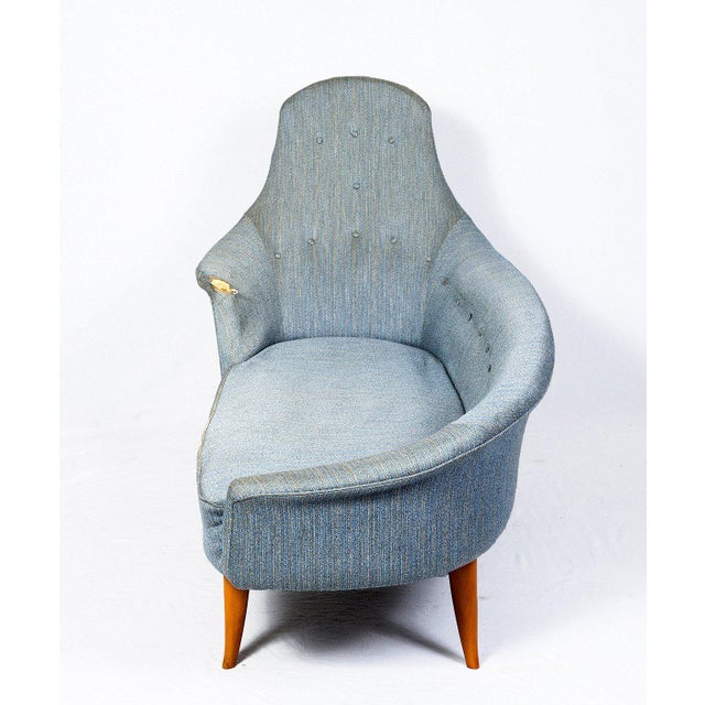 Contemporary Kerstin Hörlin-Holmquist Chaise Longue For Sale - Image 3 of 10
