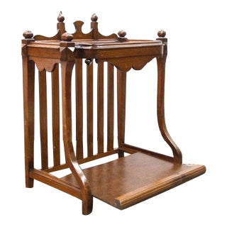 1900s English Heart Pine Umbrella Stand For Sale