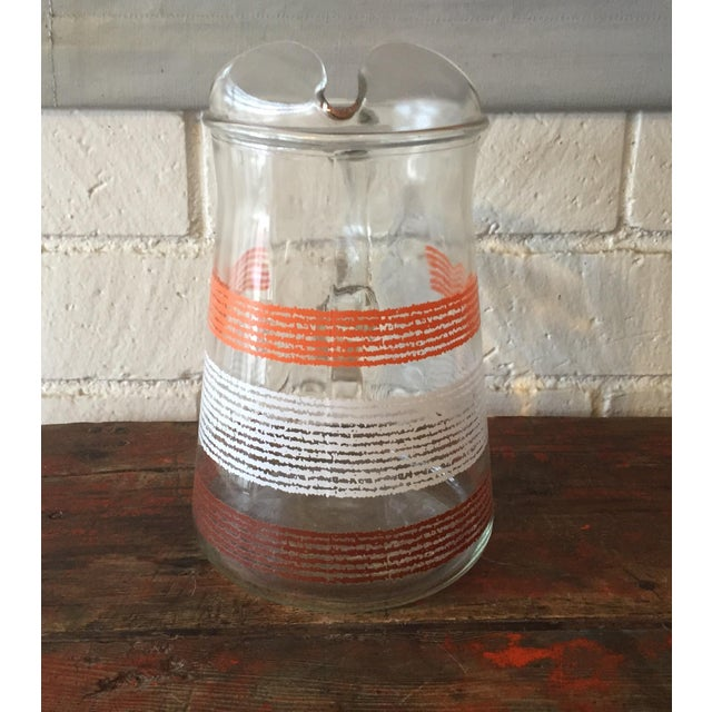Libbey Glass Pitcher With Stripes - Image 3 of 5