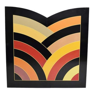 Large Painting on Board Attributed to Frank Stella