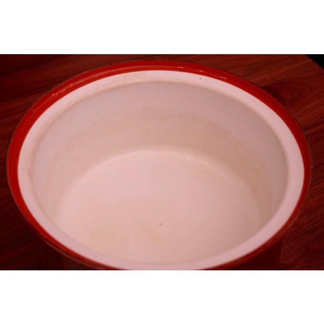 Servex Teak & Enameled Steel Serving Pot/Bowl - 3 Pieces For Sale In Dallas - Image 6 of 9