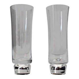 Modern Rosenthal Self-Cooling Champagne Glasses - a Pair For Sale