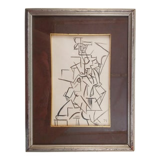 Cubist Portrait by Artist T.G. For Sale