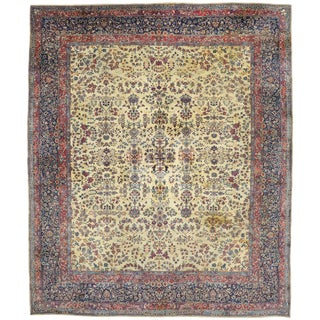 Antique Persian Kerman Palace Size Rug - 12′10″ × 15′2″ For Sale