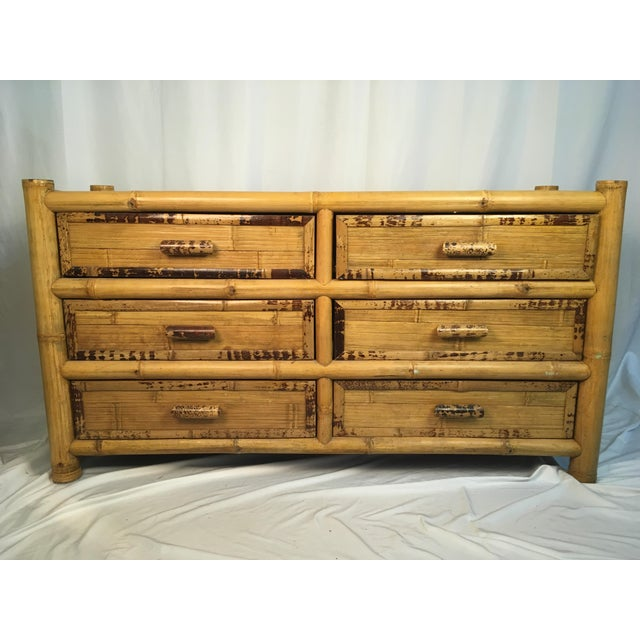 1960s Chinoiserie Bamboo Dresser For Sale - Image 10 of 10