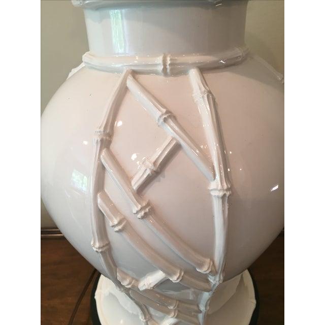 White Bamboo Lamp - Image 5 of 7