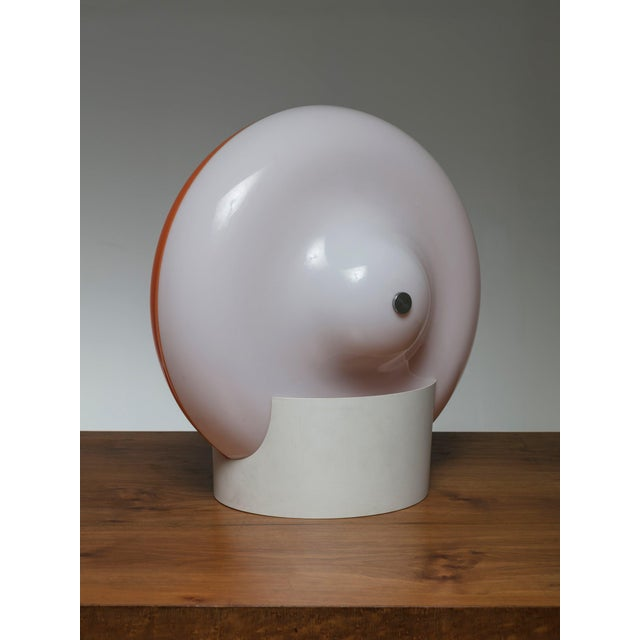 """Modern Rare """"Disco"""" Table Lamp by Cesare Casati for Guzzini For Sale - Image 3 of 5"""