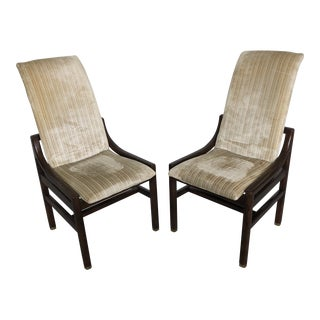 1960s Mid Century Modern Henredon Scene One Walnut Dining Chairs - a Pair For Sale