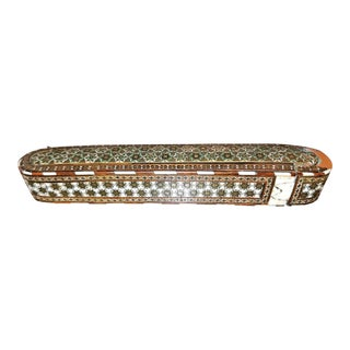 18th Century Indo Persian Mosaic Pen Box For Sale