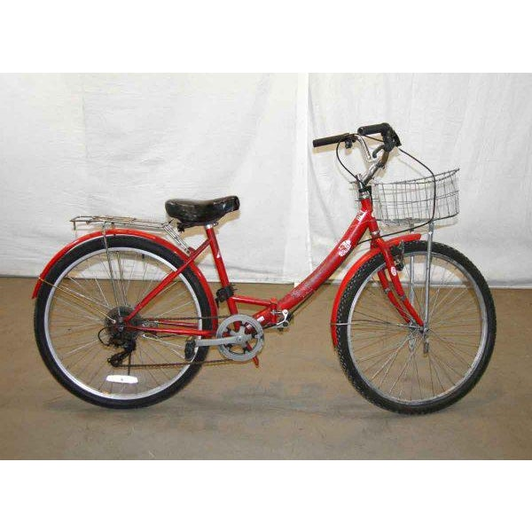 Original Red Strokin Bicycle with Basket - Image 2 of 10