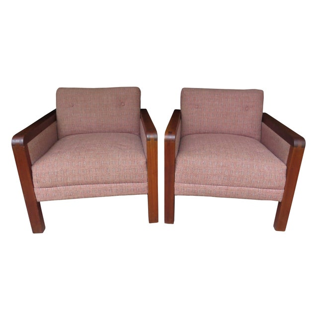 Vintage 1970s W. H. Gunlocke Chair Co. Lounge Armchairs - a Pair For Sale - Image 13 of 13