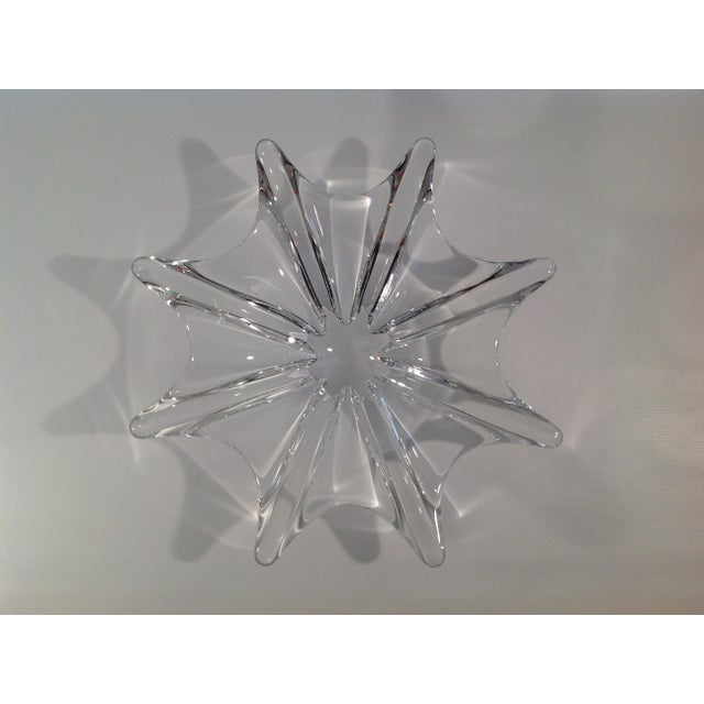 Baccarat Baccarat Crystal Etched Accent Bowl For Sale - Image 4 of 7