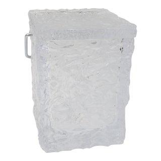 Ice Block Ice Bucket & Tongs