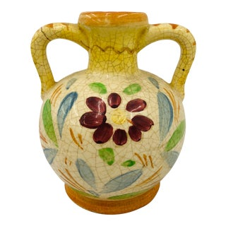Antique Hand Crafted Vase For Sale