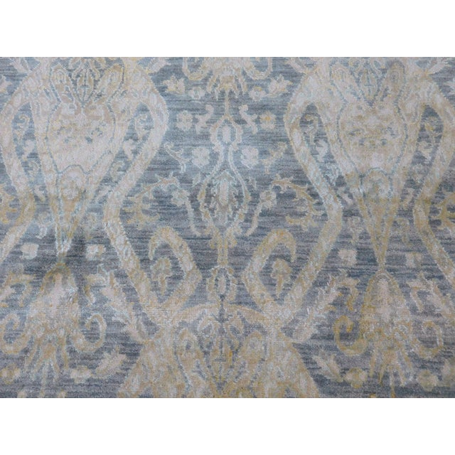 2010s Hand Knotted Indian Ikat Rug - 9′ × 12′ For Sale - Image 5 of 12