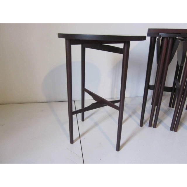 1950s Bertha Schaefer Nesting Tables by Singer and Sons - set of 4 For Sale - Image 5 of 7