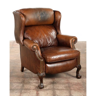 Vintage Reclining Brown Leather Chair Preview