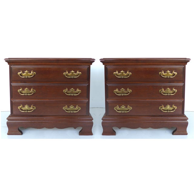 Chippendale Style Mahogany Nightstands - A Pair - Image 2 of 9