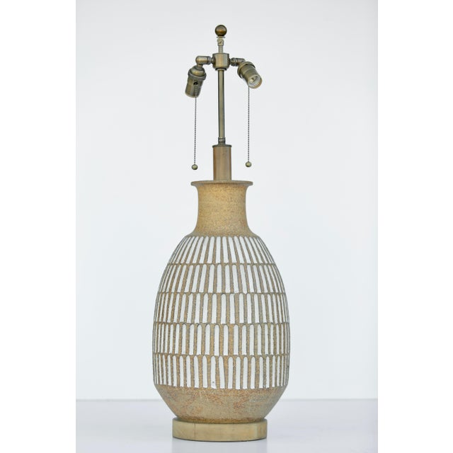 Vintage Brent Bennett Extra Large Table Lamp For Sale - Image 4 of 4