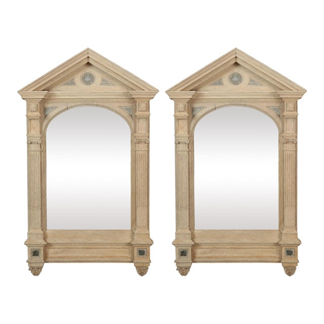 19th Century Italian White Painted Arched Mirrors - a Pair For Sale - Image 9 of 9