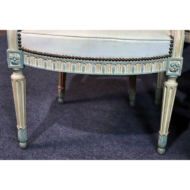 Set of 8 French Louis XVI Style Caned Back Dining Chairs For Sale In Philadelphia - Image 6 of 13