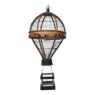 1970s Vintage Hot Air Balloon Bird Cage For Sale