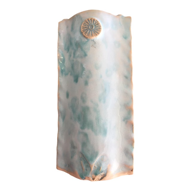 Hand Crafted Ceramic Vase Artist Signed For Sale