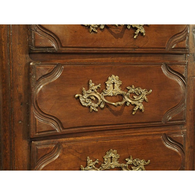 18th Century Walnut and Oak Chiffonier Chest of Drawers from France For Sale - Image 10 of 11