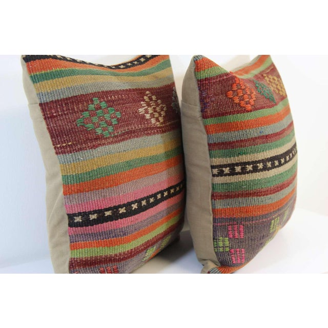 Turkish Kilim Pillow Covers - A Pair - Image 5 of 6