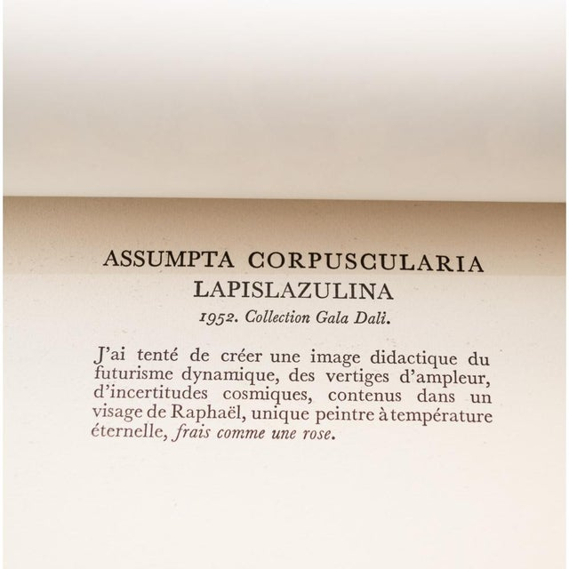 "1950s 1957 Salvador Dalí ""Assumpta Corpuscularia Lapislazulin"" Vintage Lithograph Print For Sale - Image 5 of 9"