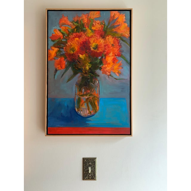 This painting is part of a large floral series inspired by color, composition, paint and flowers that I painted in 2015....