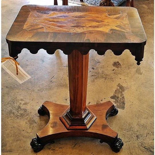 19c British William IV Colonial Specimen Wood Side Table - Important For Sale - Image 9 of 12