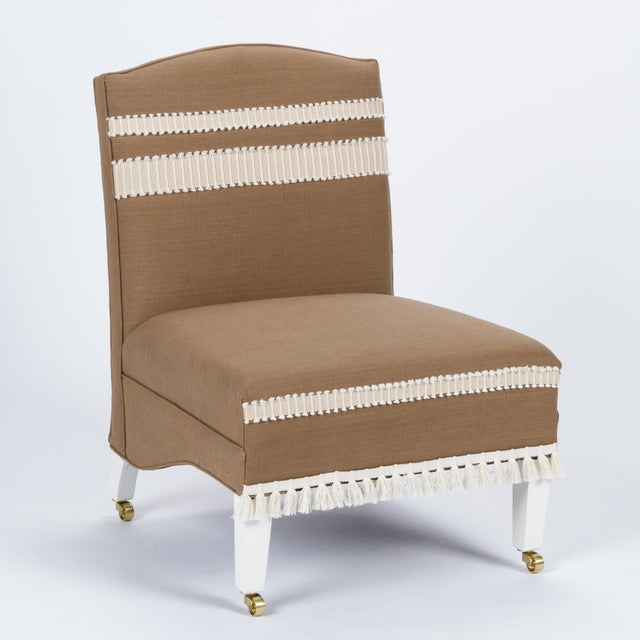 Not Yet Made - Made To Order Casa Cosima Sintra Chair in Hazel Linen, a Pair For Sale - Image 5 of 10