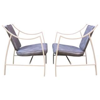 Pair of 1960s Aluminium Outdoor Armchairs For Sale