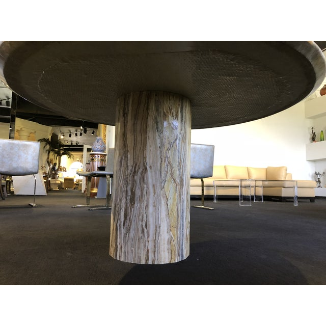 1980s 1980s Contemporary Italian Travertine Stone Table For Sale - Image 5 of 11