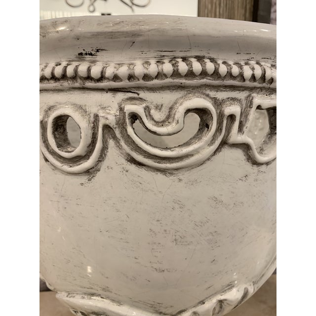 1980s Vintage Large White Italian Urns- A Pair For Sale In Phoenix - Image 6 of 9