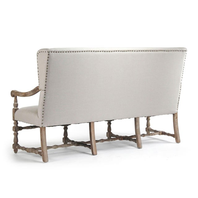 French Country Leyland Bench in Beige For Sale - Image 3 of 6