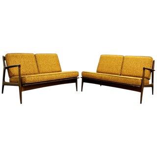 Mid Century Modern Danish Kofod Larsen Selig Sofas- A Pair For Sale