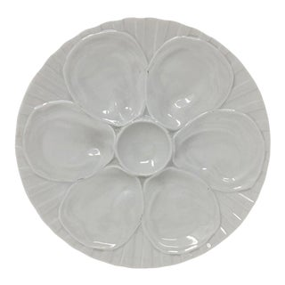 Vintage French Pillivuyt Oyster Plate For Sale