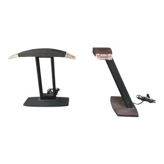 Vintage Office Table Lamps - a Pair For Sale