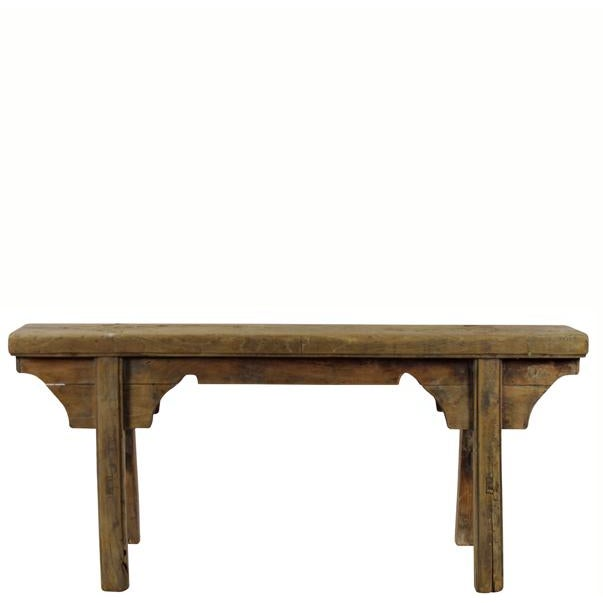 Antique Chinese Elm Countryside Bench For Sale In Boston - Image 6 of 6