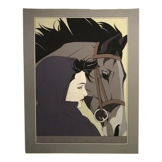 """Nagel """"Woman and Horse"""" Original Signed Lithograph Print For Sale"""