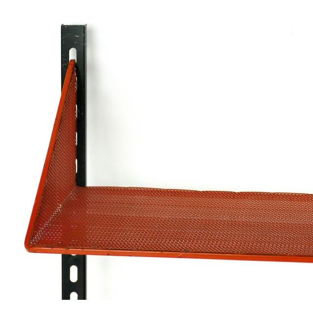 1950s Mathieu Mategot Wall Shelf w/ Adjustable Shelves Offered for sale is a rare mid-century modern Mathieu Mategot...