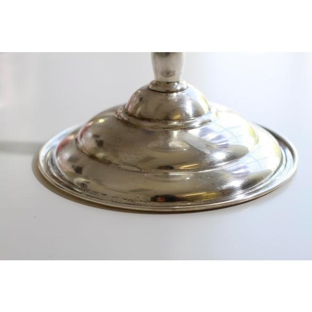Antique Sterling Silver Berkeley International Pedestal Serving Dish For Sale In New York - Image 6 of 11