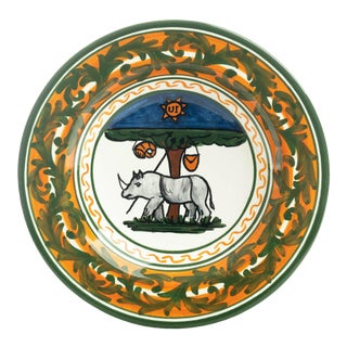 """Rhino Pasta/Soup Bowl 10"""", Contrade Dinnerware From Siena For Sale"""