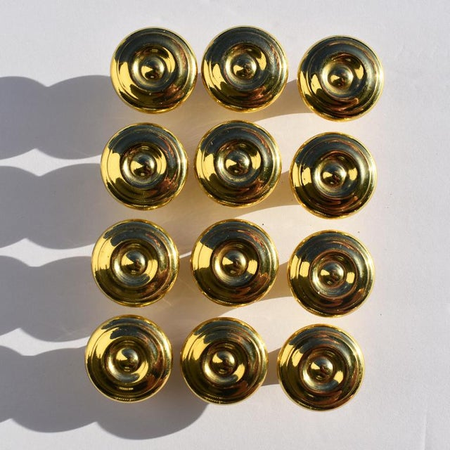 1970s 1970's Gold Cabinet Pulls Attributed to Sherle Wagner For Sale - Image 5 of 6
